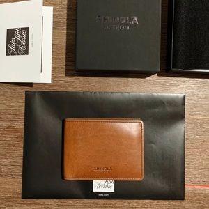 Shinola slim 2.0 wallet Harness Leather